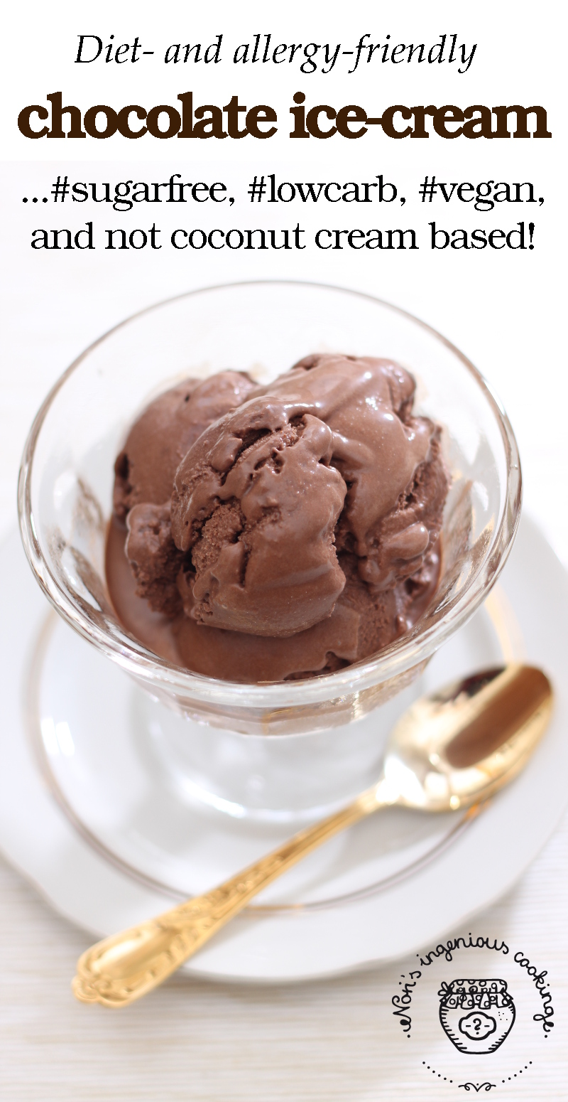 Homemade classic chocolate ice cream - #sugarfree #dairyfree #vegan |ingeniouscooking.com