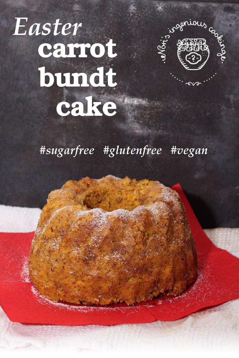 Carrot bundt cake, reinvented (SF, GF, V)