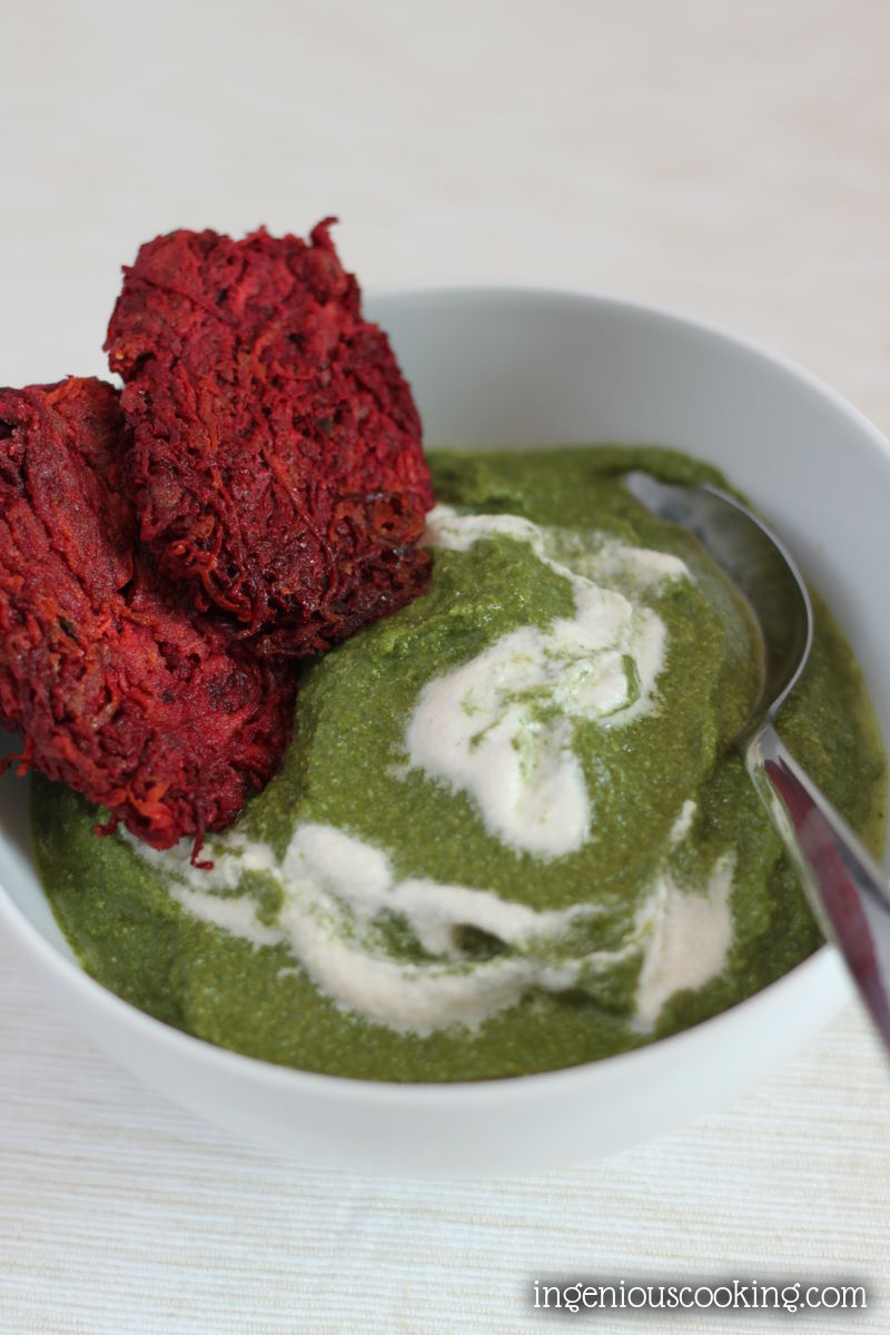 Creamy spinach (dairy-free, gluten-free, vegan recipe)