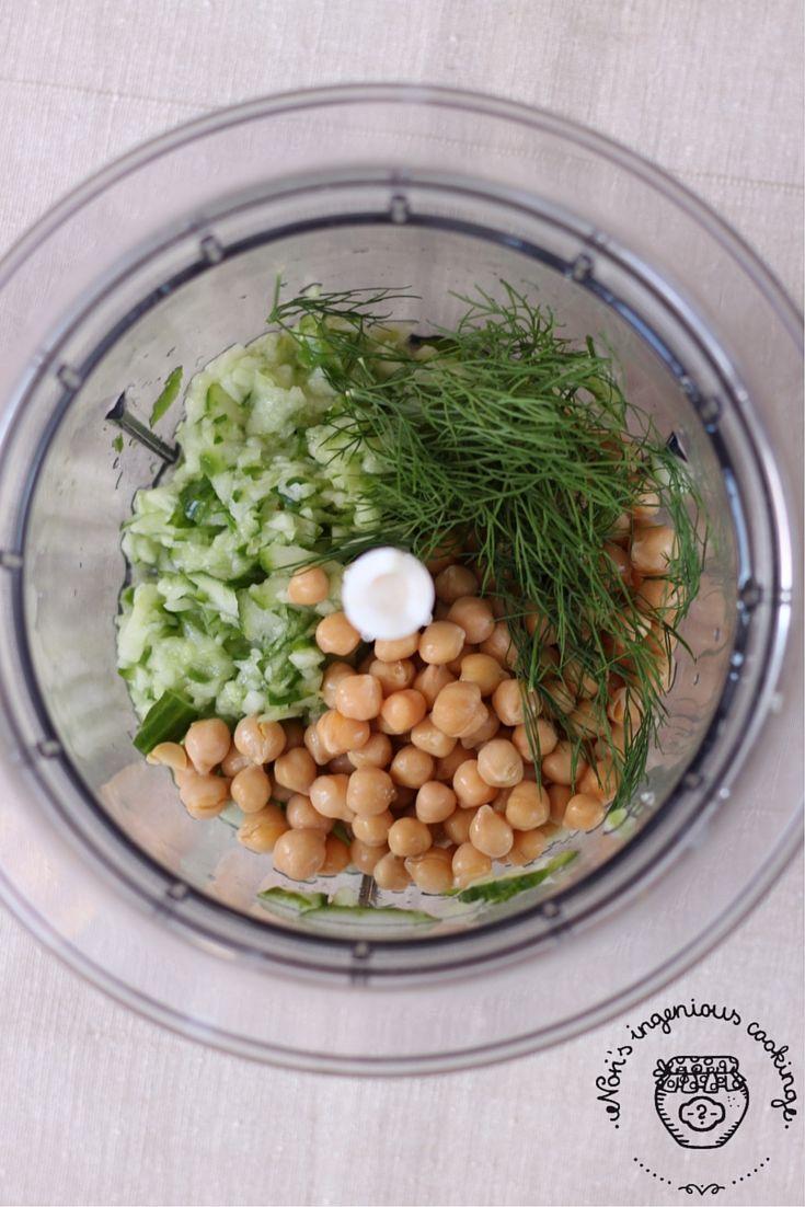 Cucumber -dill hummus #glutenfree #vegan |ingeniouscooking.com