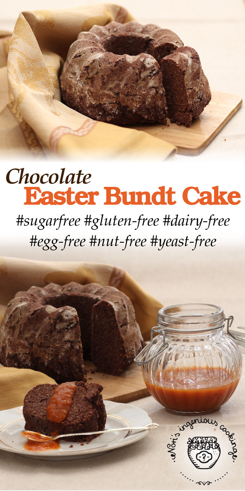 Easter bundt cake, reinvented the allergy friendly way: sugar-, gluten-, dairy- and egg-free, vegan recipe