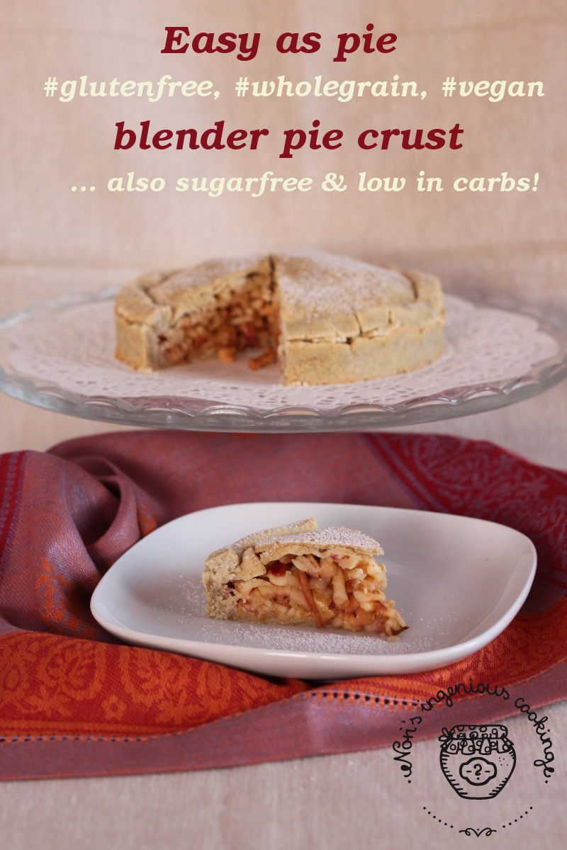 Easy as pie gluten-free, whole grain, vegan pie crust