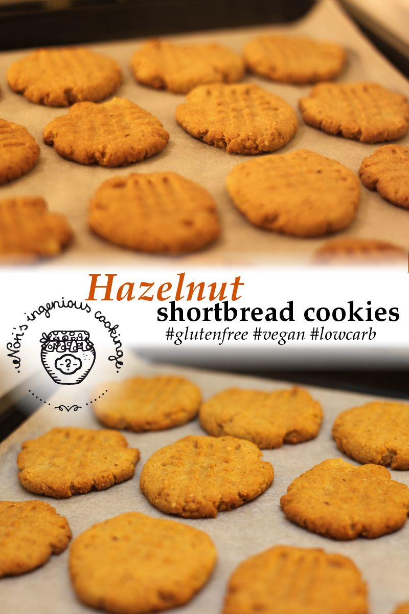 Hazelnut shortbread cookies: sugarfree, gluten-free, vegan recipe