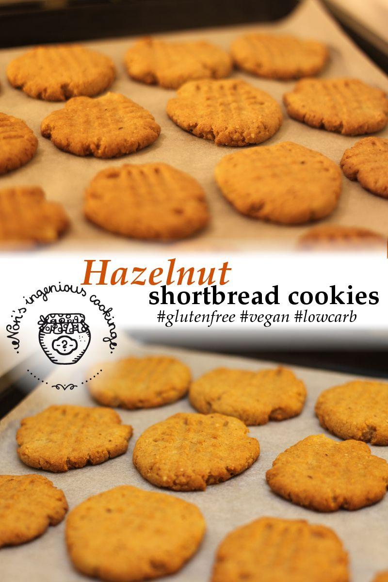 Hazelnut shortbread cookies: sugarfree, gluten-free, vegan recipe ...