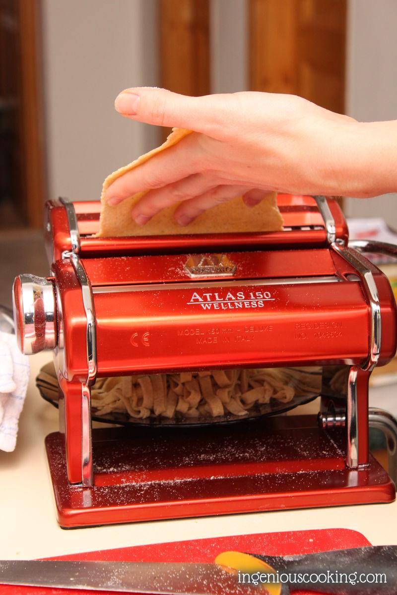 Homemade gluten free, wholegrain pasta recipe