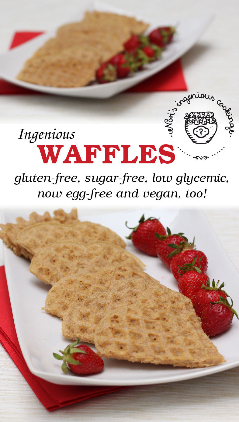 Ingenious waffles, pt. 2: now egg-free and vegan, too!