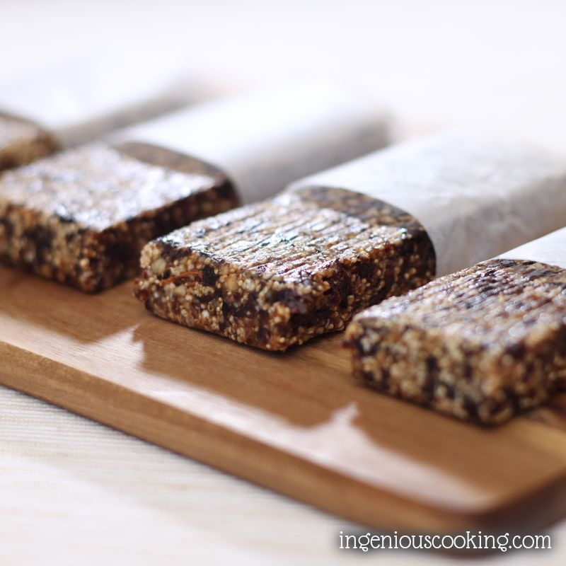 Plum and walnut amaranth bars