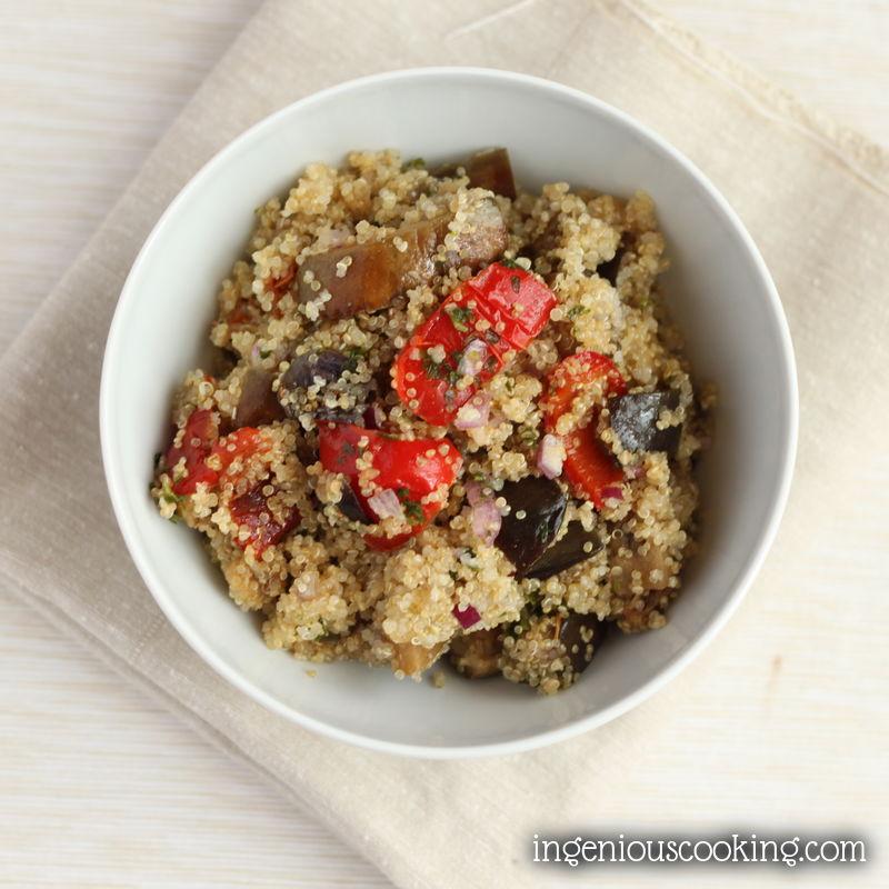 Quick fried veggies quinoa bowl (GF, V)