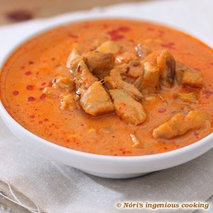 Tomato-coconut fish curry