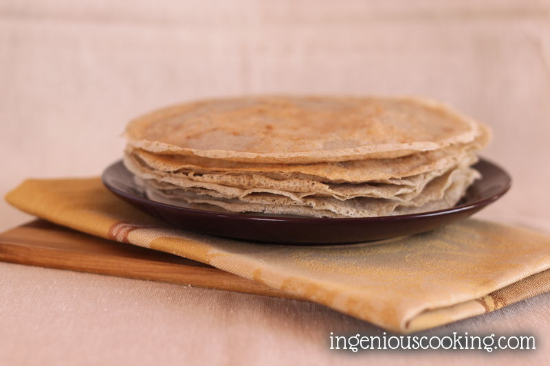 Vegan - gluten-free galettes - buckwheat pancakes, thin - light as air!